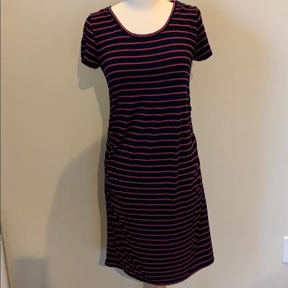Liz Lange for Target Dresses & Skirts - Navy & Hot Pink stripe Maternity tee shirt dress